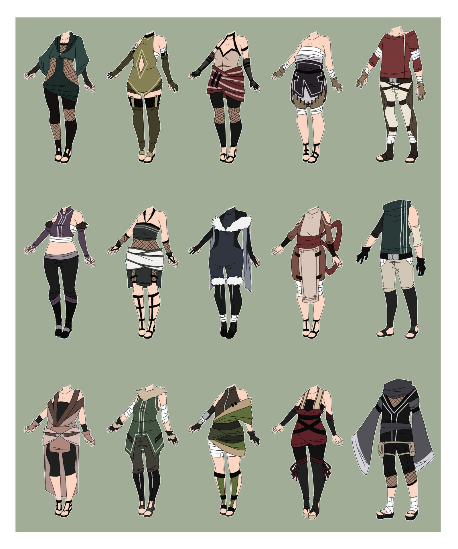 Cyop naruto outfit adoptables closed by xnoakix3 on - Croquis naruto ...