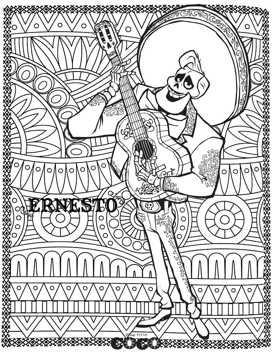 Coco Ernesto Return To Childhood Coloring Pages For Adults