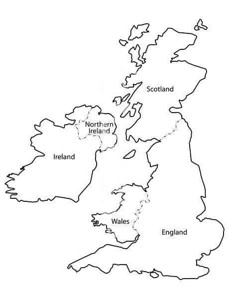 photo about Printable Map of Uk and Ireland named Identified upon Bing towards  Undertaking clipart