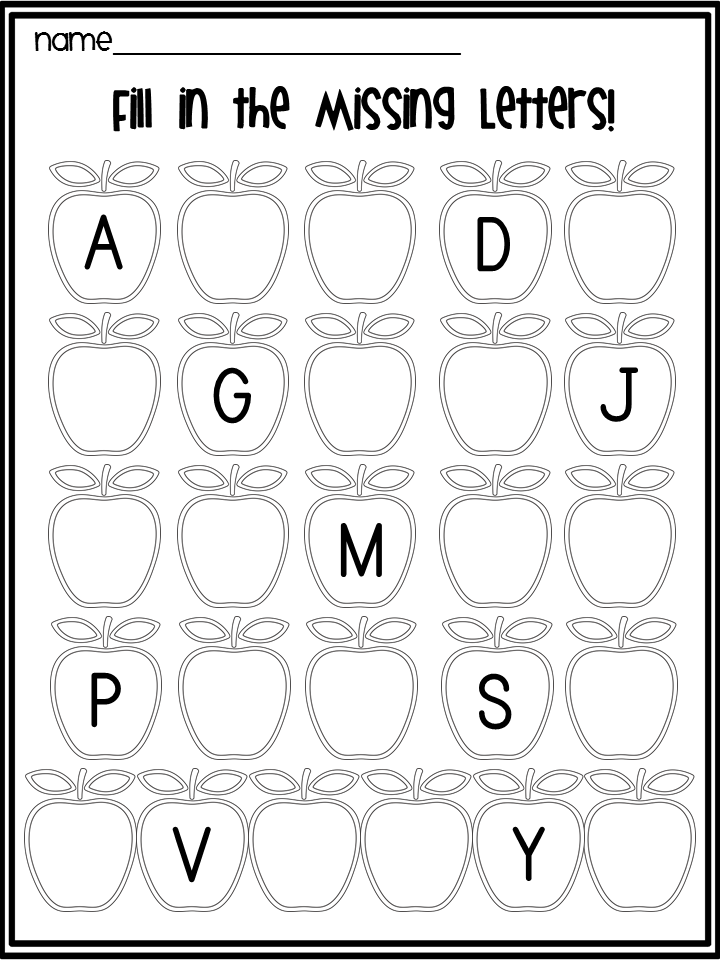 Apple Letter Fill In The Blank Trace Writing Pinterest Apple