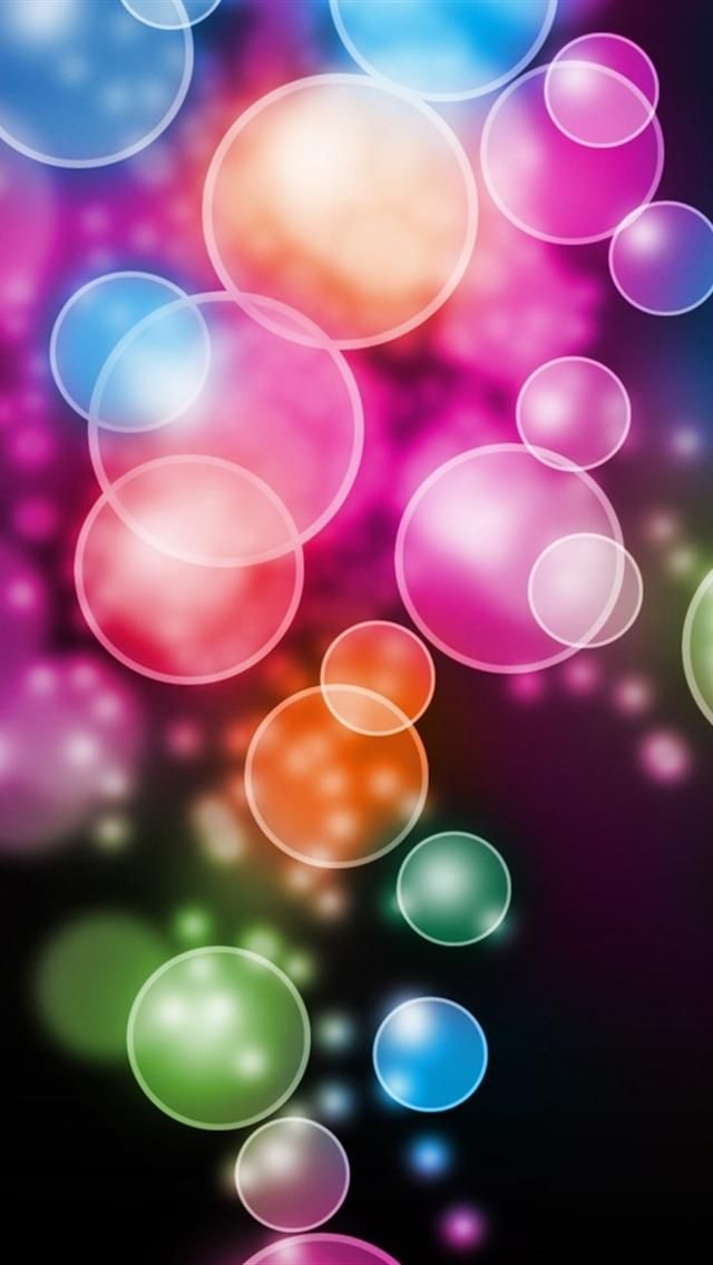 Hd Bright Circles Iphone 5 Wallpapers Bubbles Wallpaper New Wallpaper Iphone Cool Iphone Wallpapers Hd