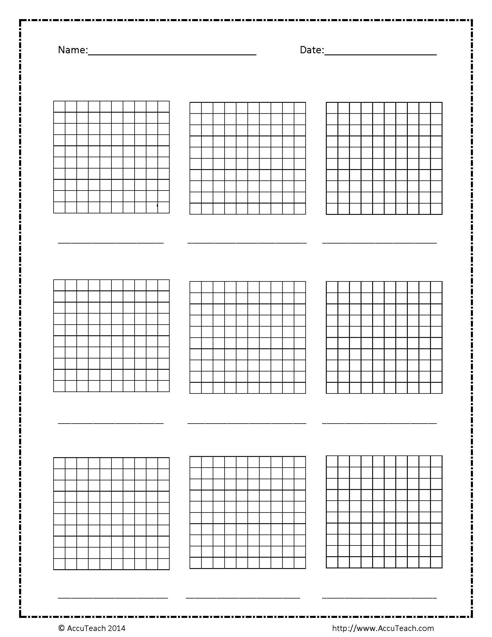 Blank Base Ten Hundreds Frame Base Ten Decimals Math Lessons [ 2200 x 1700 Pixel ]