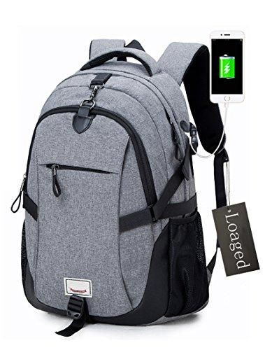 Anti-theft Laptop Backpack, Loaged Business Bags with USB Charging Port  Water Resistant School Bookbag for College Travel Backpack for 15.6-Inch  Laptop and ... f6af2262c7