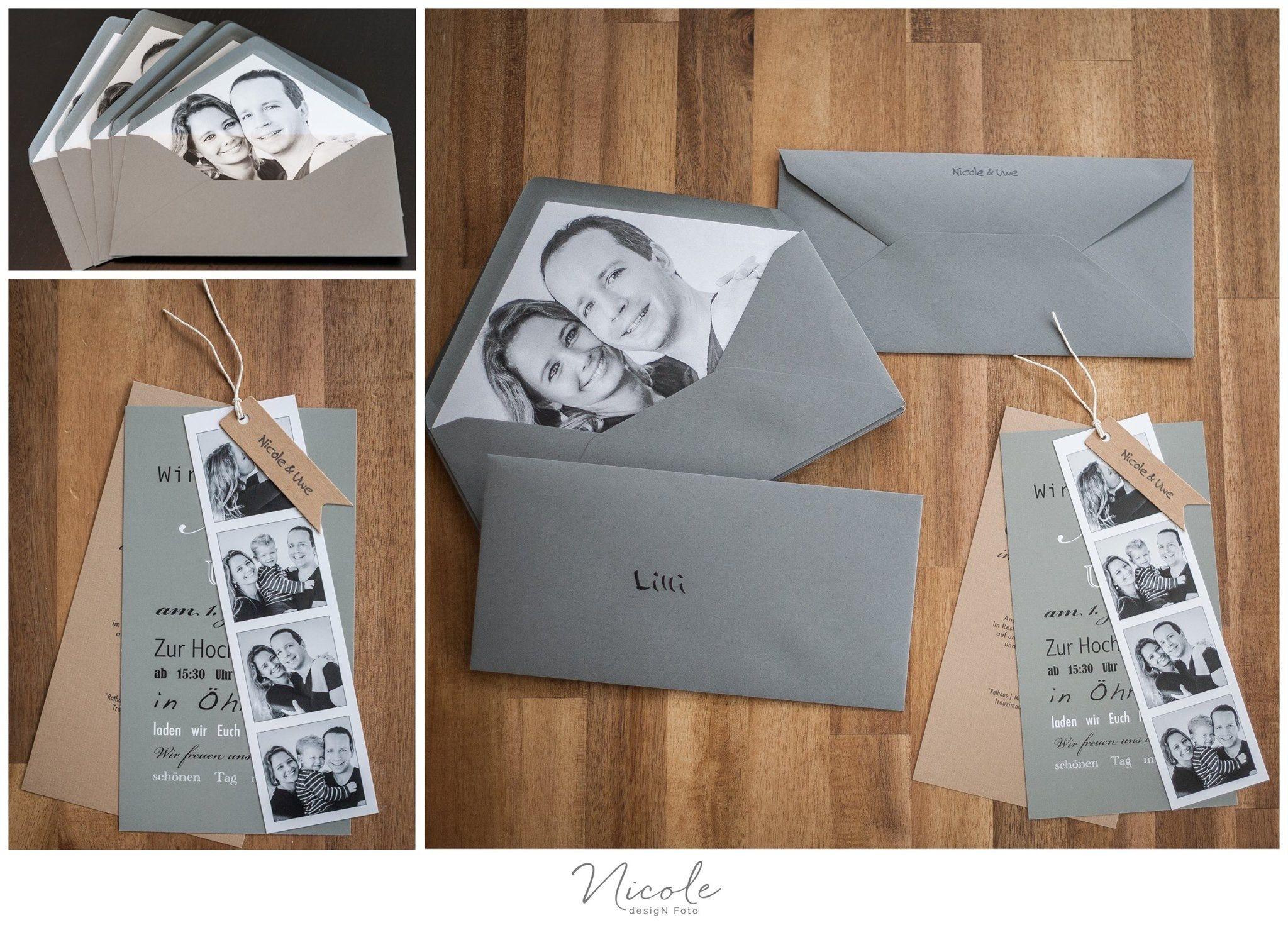 Hochzeitseinladungen, Einladung Zur Hochzeit, Engagementfoto Im Umschlag,  Verlobungsshooting, Fotos Für Hochzeitseinladung