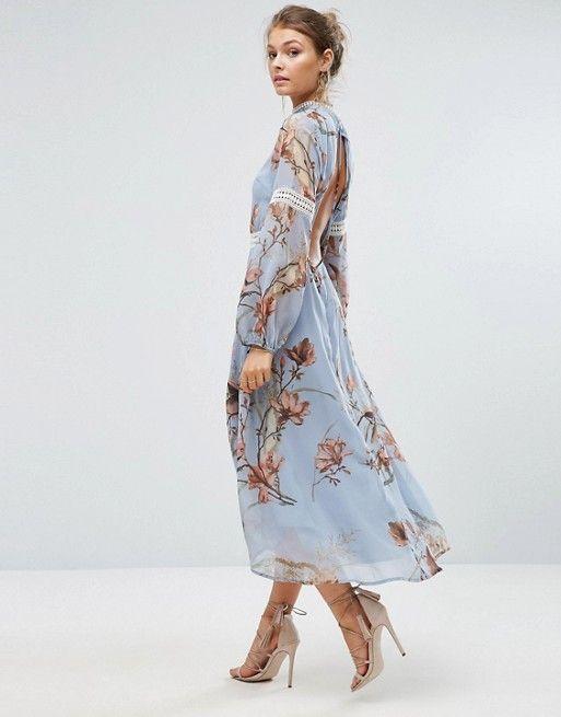 Wunderschöne Blumen Hochzeit Gast Kleid | Outfit hochzeit ...