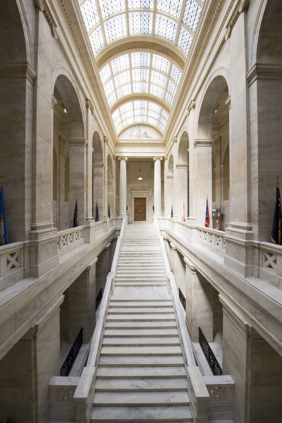 Arkansas State Capitol Building, Little Rock. The floors