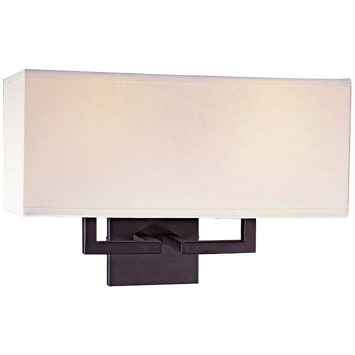 George kovacs rectangle bronze 11 high 2 light wall sconce wall george kovacs rectangle bronze 11 high 2 light wall sconce 24117 aloadofball Image collections