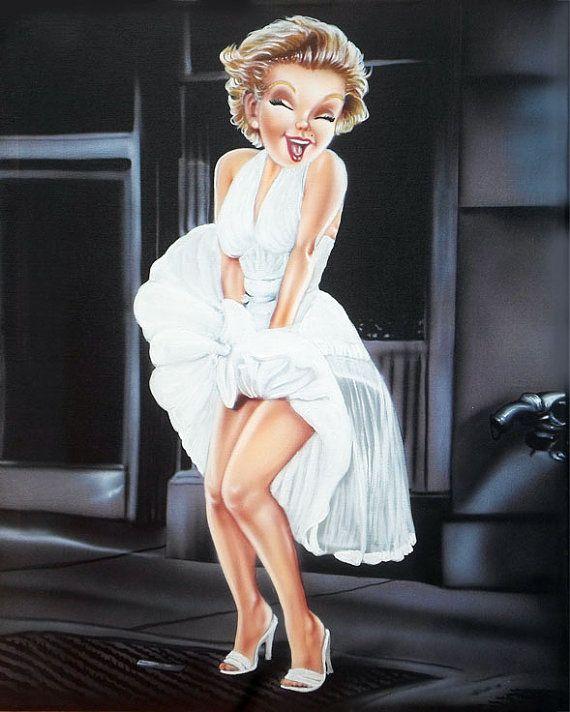 Marilyn Monroe White Dress Wind Cartoon Disney Big By