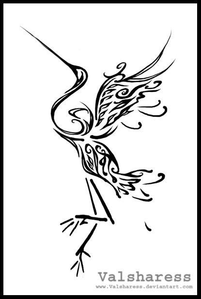 Heron Abstract By Valsharess On Deviantart Heron Tattoo Tattoos Celtic Tattoos
