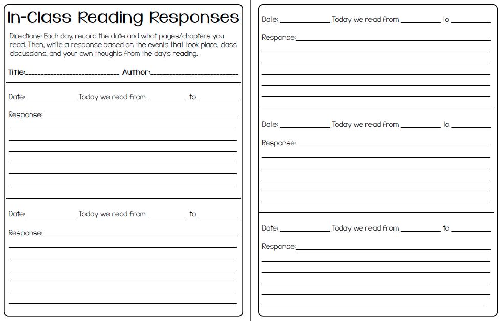 Reading response paper