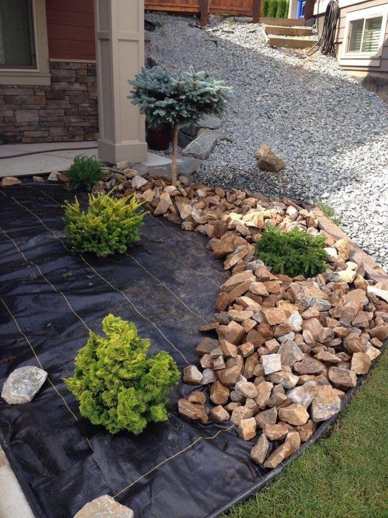 39 Gorgeous Front Yard Rock Garden Landscaping Ideas 20 With Images Rock Garden Design Landscaping With Rocks Backyard Landscaping