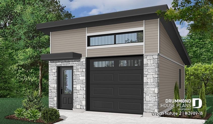 1 5 Car Garage Plans With Loft Google Search Garage Door Design Modern Garage Modern Garage Doors