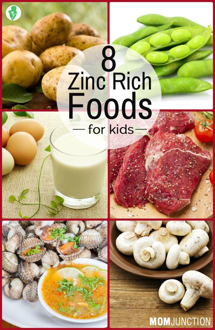 8 Best Zinc Rich Foods For Kids Zinc rich foods, Healthy