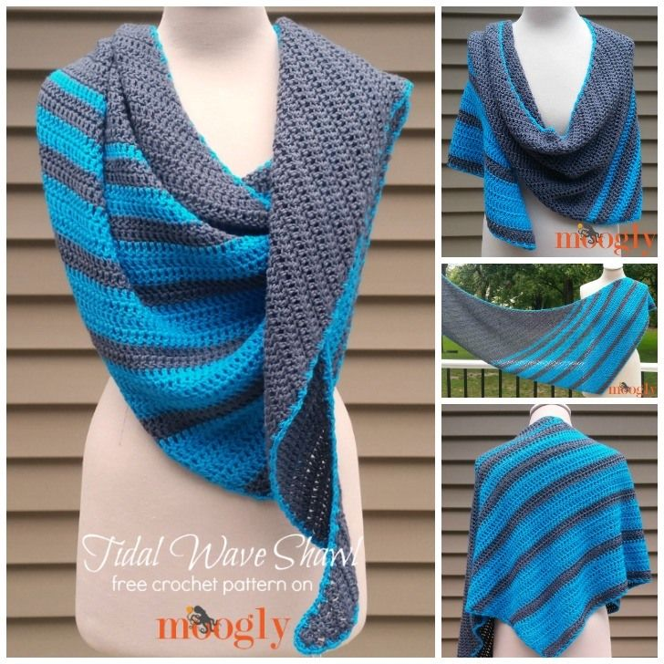 Tidal Wave Shawl - free crochet pattern on Mooglyblog.com! | Cosas ...