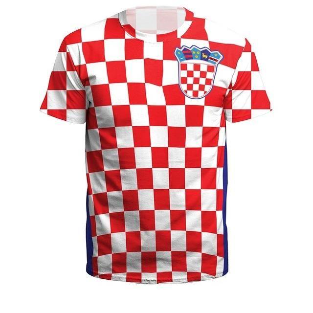 0479630ccbc4 Summer Men/Women Croatia Football Jerseys Sport Tee Tops 3D Printing F – US  MART NEW YORK