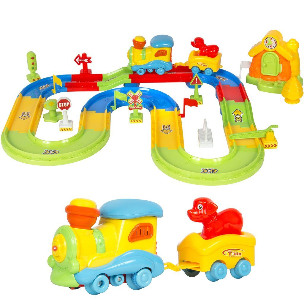 Electric Train Set W Lights And Sound Toy Train Kids Train Set Toy Trains Set