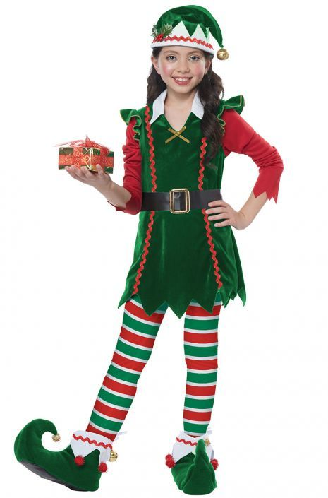2ae8845c32a42 Festive Elf Child Costume | Holiday - 'Tis the Season! | Elf costume ...
