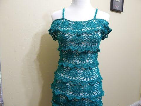 Vestido para Dama Crochet parte 1 de 3 - YouTube