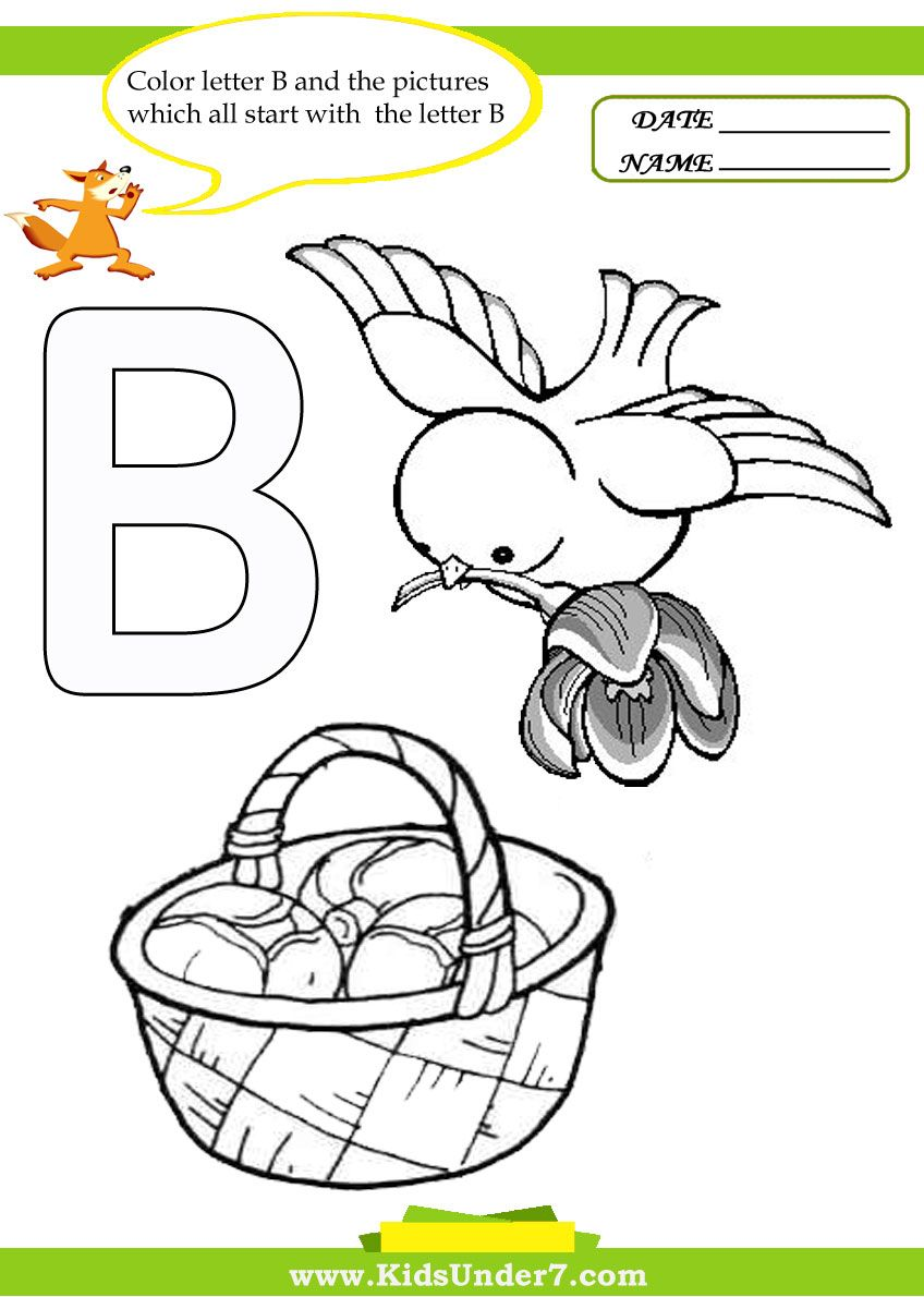 Letter B coloring pages and worksheets #coloring pages #worksheets ...