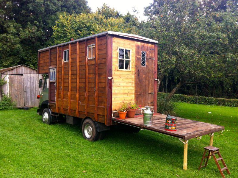 Converted Bedford Tk Horsebox Wooden Body Woodburner Rustic Bespoke Interior Camper Conversion