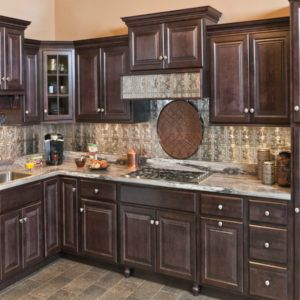 Wolf Saginaw Dark Sable Stain Kitchen Cabinets [Low Price ...