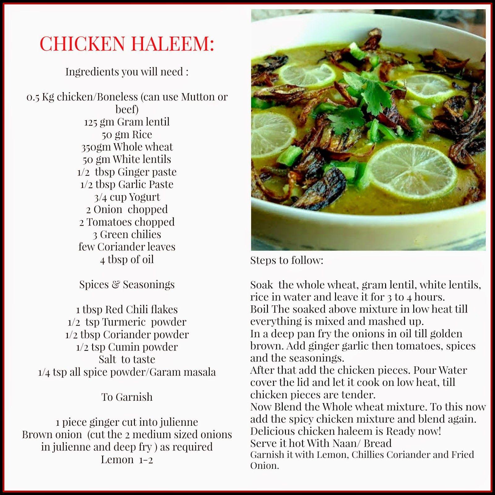 Chicken Haleem From Pakistan Recipes Indian Food Recipes Food