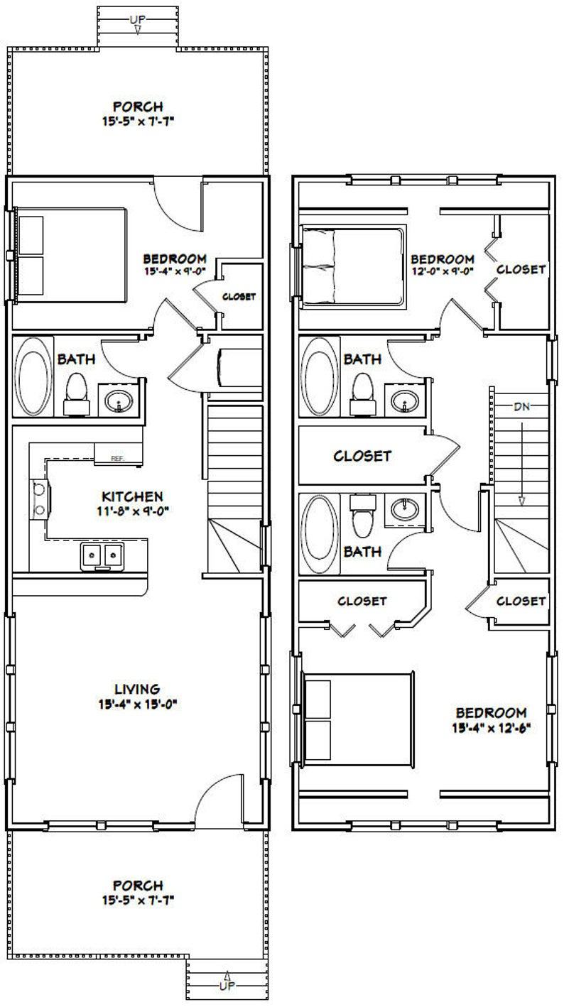 16x28 Tiny House 16x28h6c 806 Sq Ft Excellent Floor Plans Small Shed Plans Tiny House Plans Tiny House Floor Plans