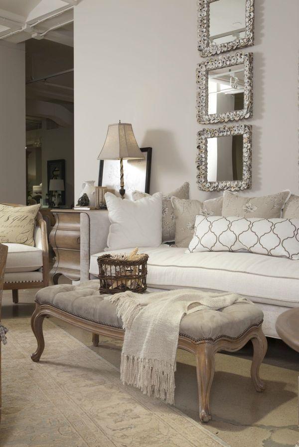 Neutral Living Room DECORATING Pinterest Wohnzimmer, Rund ums - wohnzimmer ideen braune couch