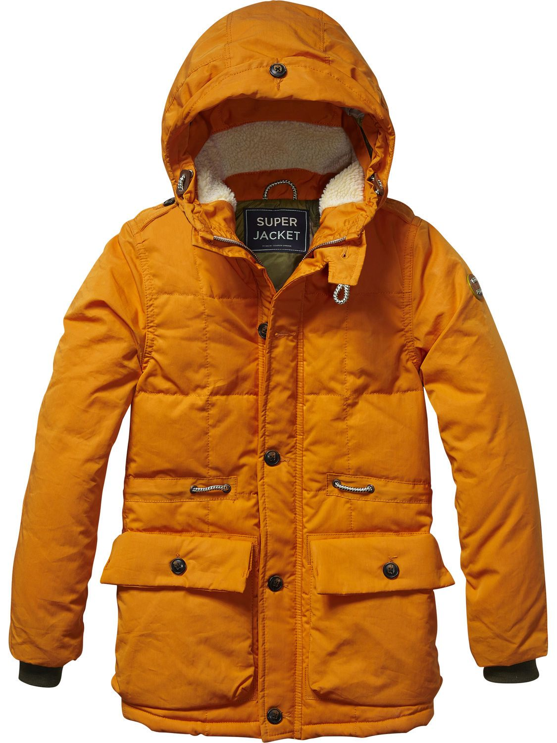 Scotch /& Soda Padded Jacket with Hood Giacca Bambino