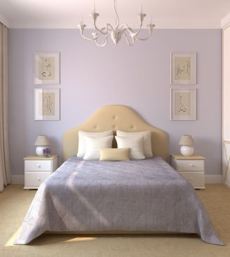 Muralo Paints Lilac Bedroom Wall