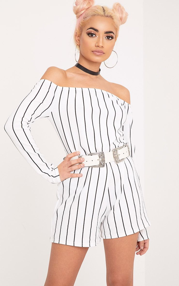 7fce869f6f1f Micah White Stripe Romper in 2019