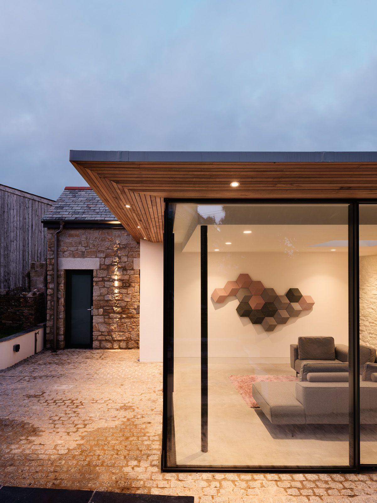 Roseland Cottage Cornwall Flat Roof Design Flat Roof Extension Cottage Extension