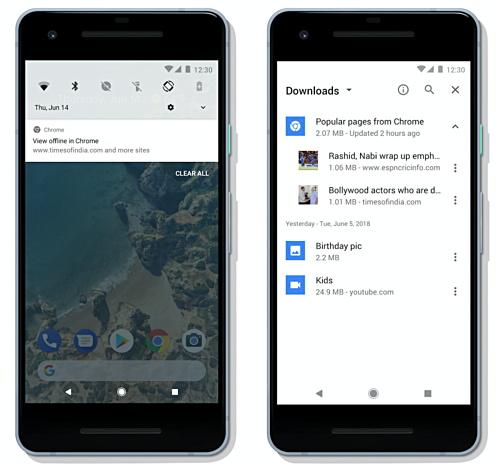 O Chrome para Android recebe capacidade para baixar