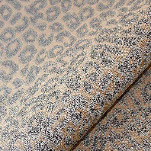 Joseph Le Sauvage Leopard Animal Print Upholstery Fabric Grey Tan 05