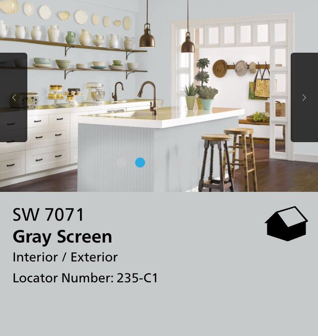 Kitchen Paint App: Screen Capture From The Sherwin Williams Website For Their