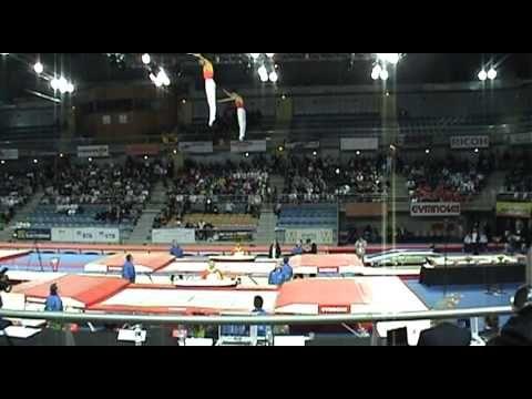 Some amazing synchronized trampoline work.