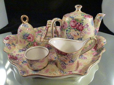 Details about ROYAL WINTON GRIMWADES CHINTZ FLORAL CREAM & SUGAR SET ENGLAND #teapotset