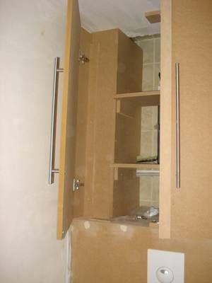placard au dessus d\u0027un WC suspendu 2 - Blog de Jeanlem-menuiserie - fixation porte de placard