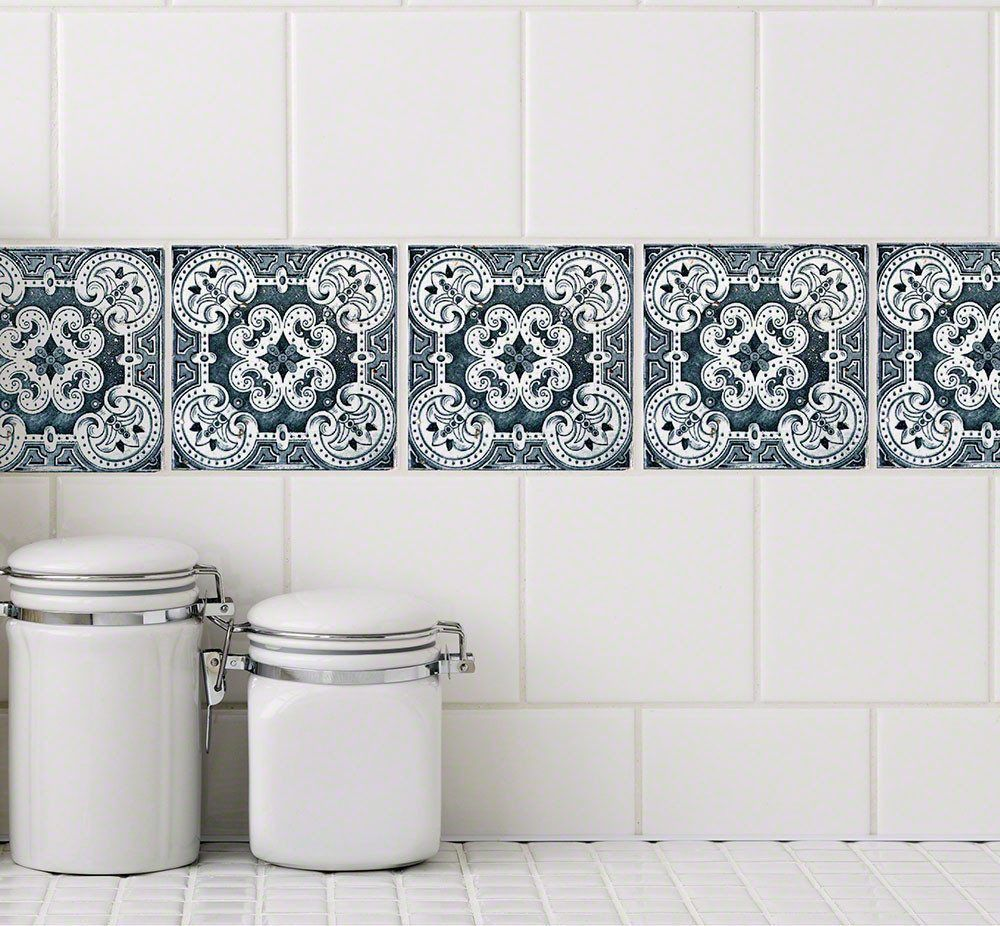 Chelsea Tile Tattoos are stickers for an affordable tile makeover in ...