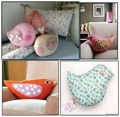 cojn de pjaro con moldes moldes para hacer bonitos cojines en forma de pjaros ideal para decorar habitaciones y salones almohadas y cojines in - Cojines Bonitos