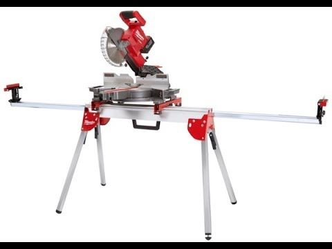 Milwaukee 7 1 4 M18 Fuel Cordless Miter Saw And Stand Mitre Saw Stand Miter Saw Saw Stand