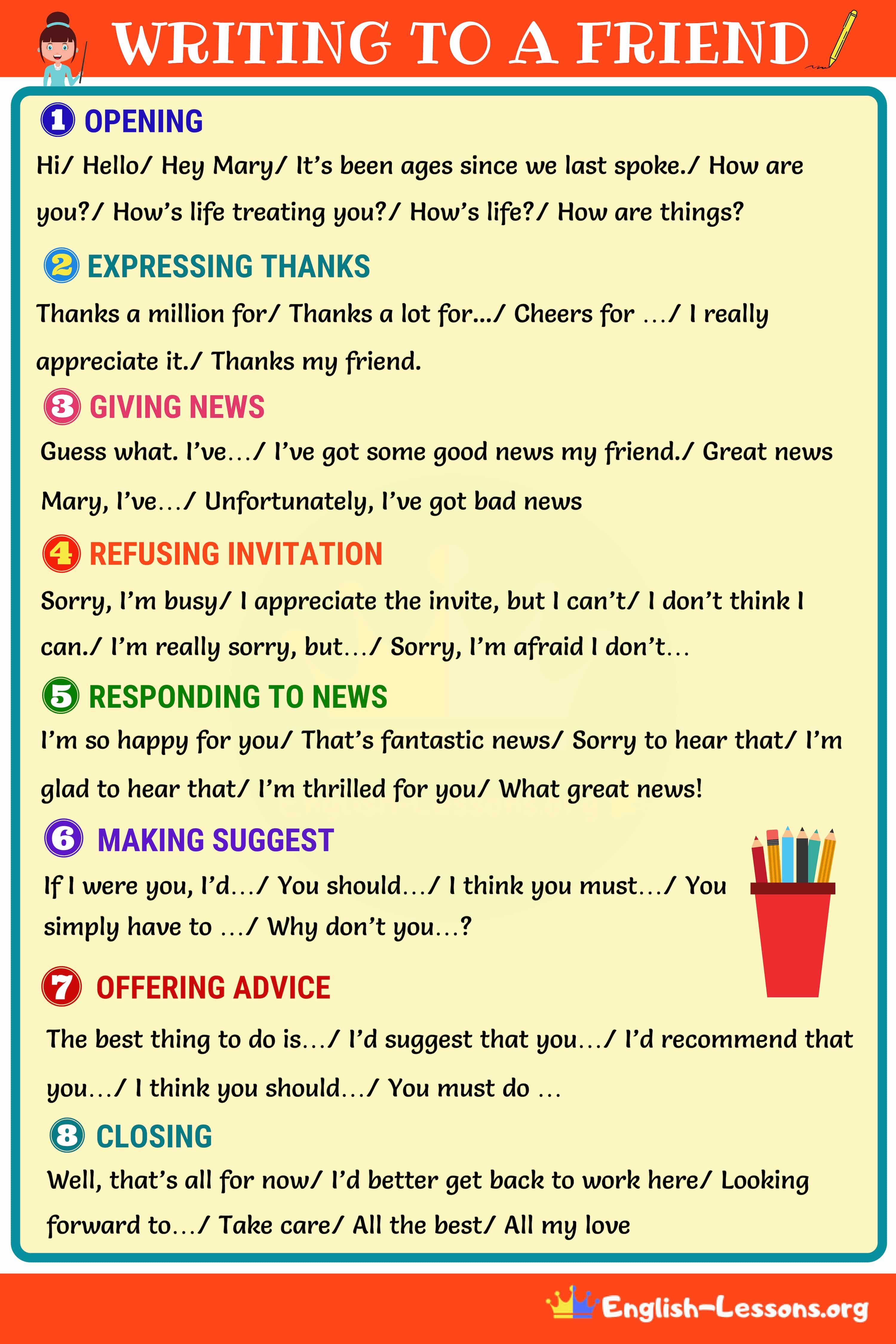 How To Write A Friendly Letter Friendly Letter Writing English Letter Writing Letter Writing Examples