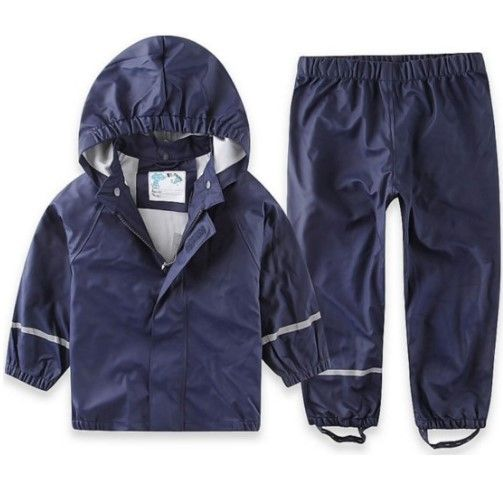 Rain Pants Kids Waterproof Windproof Outdoor Trousers Children Overall Outerwear