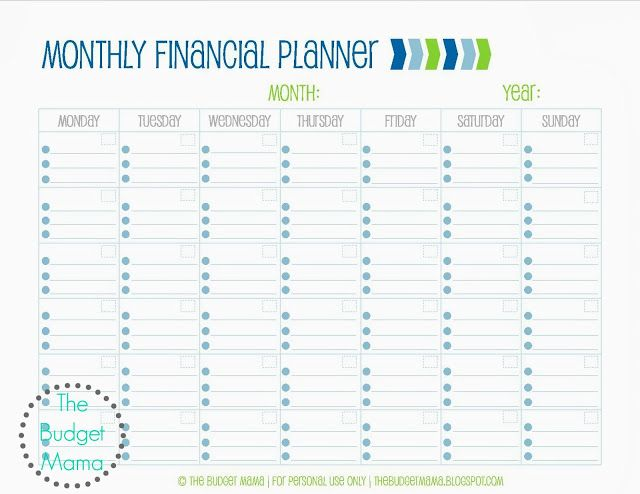 graphic relating to Free Printable Financial Planner named Month to month Economic Building Absolutely free Printable The Funds
