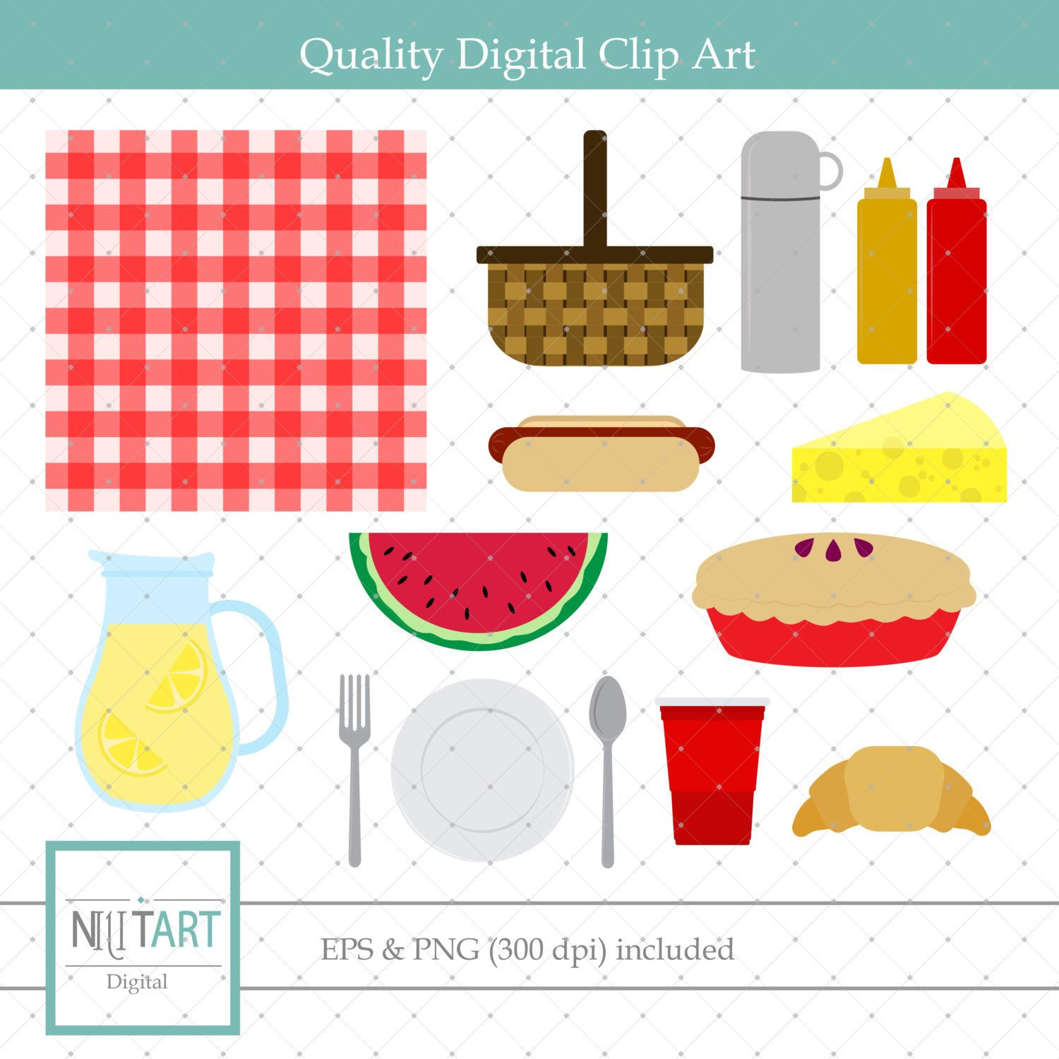 Lunch Clipart Picnic Clipart Meal Clipart Ketchup