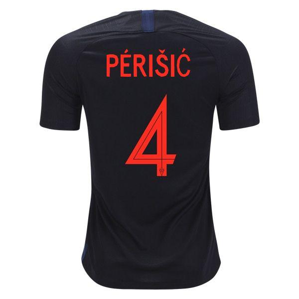 146cdd56a Ivan Perisic 4 Croatia 2018 World Cup Away Soccer Jersey