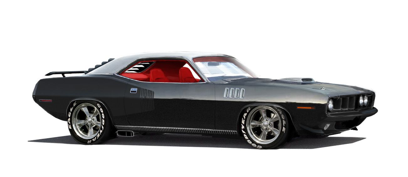 Black Hemi-Cuda...Would love to have this car :)
