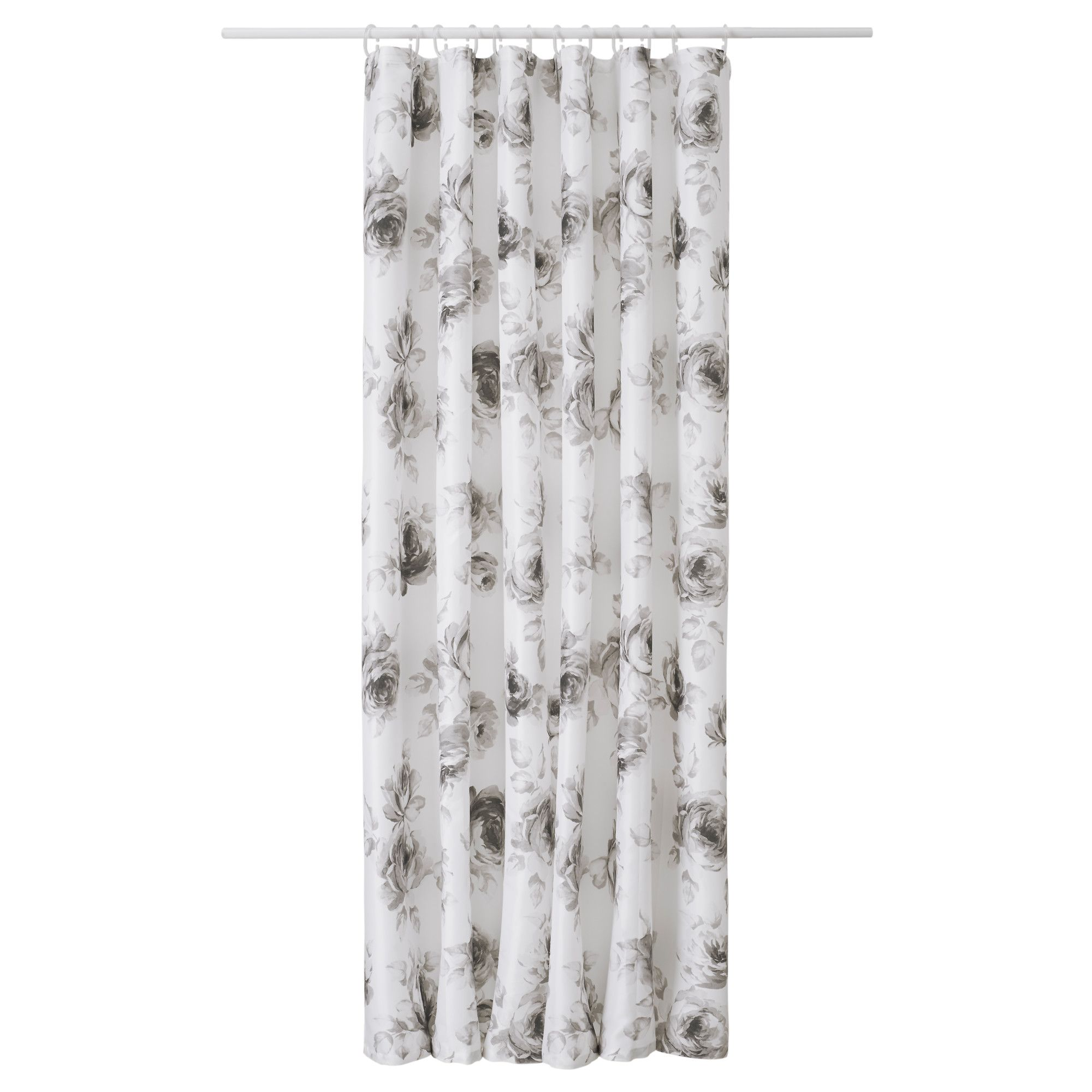 Aggersund Shower Curtain Gray White 71x71 Gray Shower Curtains