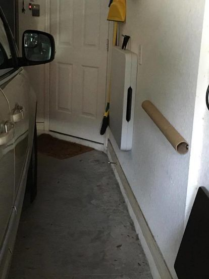 Cheap And Easy Garage Car Door Bumper Garage Garage Walls Storage