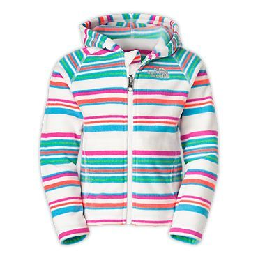 The North Face Toddlers' (2T-4T) Shirts TODDLER GIRLS' STRIPED GLACIER FULL ZIP HOODIE